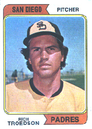 1974 Topps Baseball Cards      077A     Rich Troedson SD