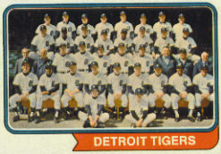 1974 Topps Baseball Cards      094      Detroit Tigers TC