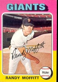 1975 Topps Mini Baseball Cards      132     Randy Moffitt