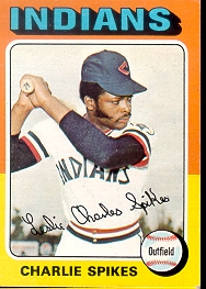 1975 Topps Mini Baseball Cards      135     Charlie Spikes