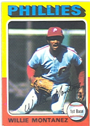 1975 Topps Mini Baseball Cards      162     Willie Montanez