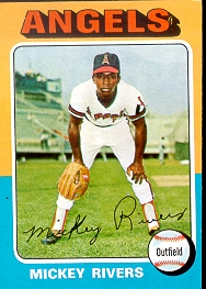 1975 Topps Baseball Cards      164     Mickey Rivers