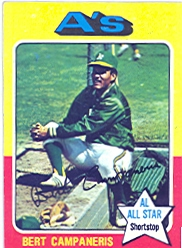 1975 Topps Mini Baseball Cards      170     Bert Campaneris