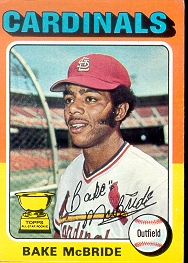 1975 Topps Mini Baseball Cards      174     Bake McBride