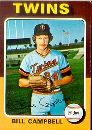 1975 Topps Mini Baseball Cards      226     Bill Campbell