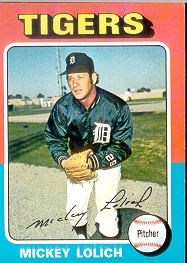 1975 Topps Baseball Cards      245     Mickey Lolich