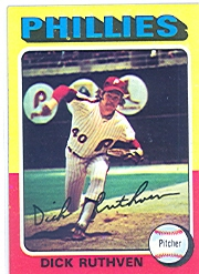 1975 Topps Mini Baseball Cards      267     Dick Ruthven