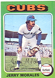 1975 Topps Mini Baseball Cards      282     Jerry Morales