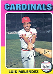 1975 Topps Mini Baseball Cards      353     Luis Melendez