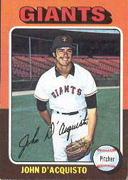 1975 Topps Mini Baseball Cards      372     John D'Acquisto