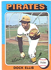 1975 Topps Mini Baseball Cards      385     Dock Ellis