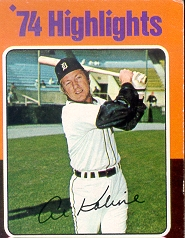 1975 Topps Mini Baseball Cards      004       Al Kaline HL