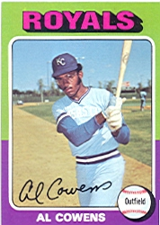 1975 Topps Baseball Cards      437     Al Cowens RC
