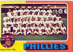 1975 Topps Mini Baseball Cards      046      Philadelphia Phillies CL/Danny Ozark