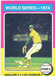 1975 Topps Mini Baseball Cards      463     Rollie Fingers WS3