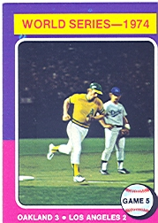 1975 Topps Mini Baseball Cards      465     Joe Rudi WS5