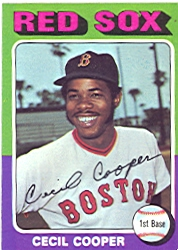 1975 Topps Baseball Cards      489     Cecil Cooper