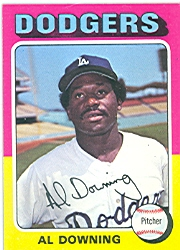 1975 Topps Mini Baseball Cards      498     Al Downing