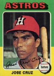 1975 Topps Mini Baseball Cards      514     Jose Cruz
