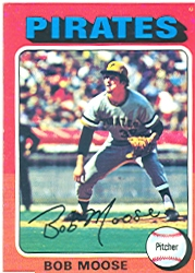 1975 Topps Mini Baseball Cards      536     Bob Moose