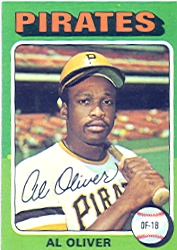 1975 Topps Mini Baseball Cards      555     Al Oliver