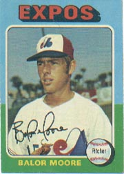 1975 Topps Mini Baseball Cards      592     Balor Moore