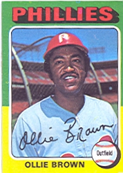 1975 Topps Mini Baseball Cards      596     Ollie Brown