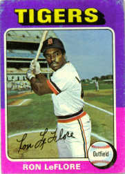 1975 Topps Mini Baseball Cards      628     Ron LeFlore RC