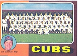 1975 Topps Baseball Cards      638     Chicago Cubs CL/Marshall