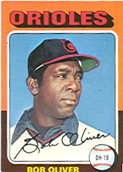 1975 Topps Mini Baseball Cards      657     Bob Oliver