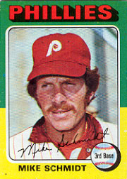 1975 Topps Mini Baseball Cards      070      Mike Schmidt