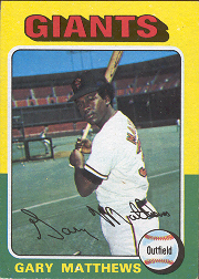 1975 Topps Mini Baseball Cards      079      Gary Matthews