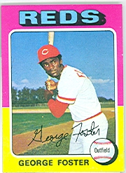 1975 Topps Mini Baseball Cards      087      George Foster