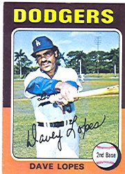 1975 Topps Mini Baseball Cards      093      Davey Lopes