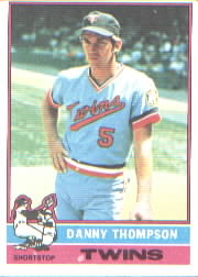 1976 Topps Baseball Cards      111     Danny Thompson