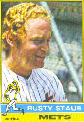 1976 Topps Baseball Cards      120     Rusty Staub