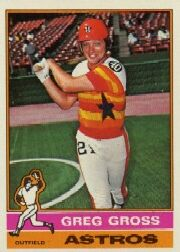 1976 Topps Baseball Cards      171     Greg Gross