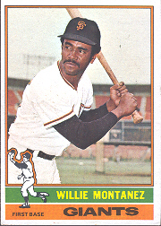 1976 Topps Baseball Cards      181     Willie Montanez