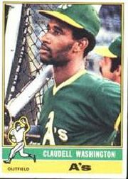 1976 Topps Baseball Cards      189     Claudell Washington