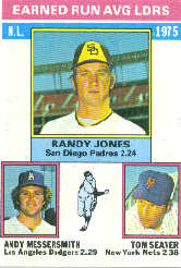 1976 Topps Baseball Cards      201     Randy Jones/Andy Messersmith/Tom Seaver LL