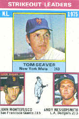 1976 Topps Baseball Cards      203     Tom Seaver/John Monefusco/Andy Messersmith LL