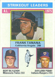 1976 Topps Baseball Cards      204     Frank Tanana/Bert Blyleven/Gaylord Perry LL