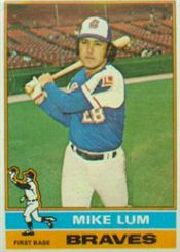 1976 Topps Baseball Cards      208     Mike Lum