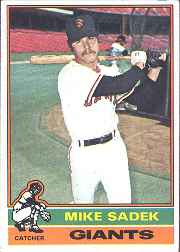 1976 Topps Baseball Cards      234     Mike Sadek
