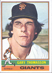 1976 Topps Baseball Cards      261     Gary Thomasson