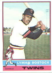1976 Topps Baseball Cards      263     Lyman Bostock RC
