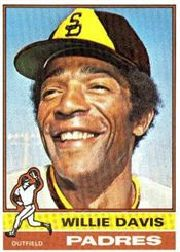 1976 Topps Baseball Cards      265     Willie Davis
