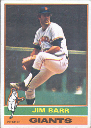 1976 Topps Baseball Cards      308     Jim Barr