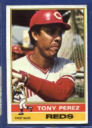 1976 Topps Baseball Cards      325     Tony Perez