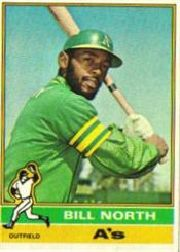 1976 Topps Baseball Cards      033      Bill North